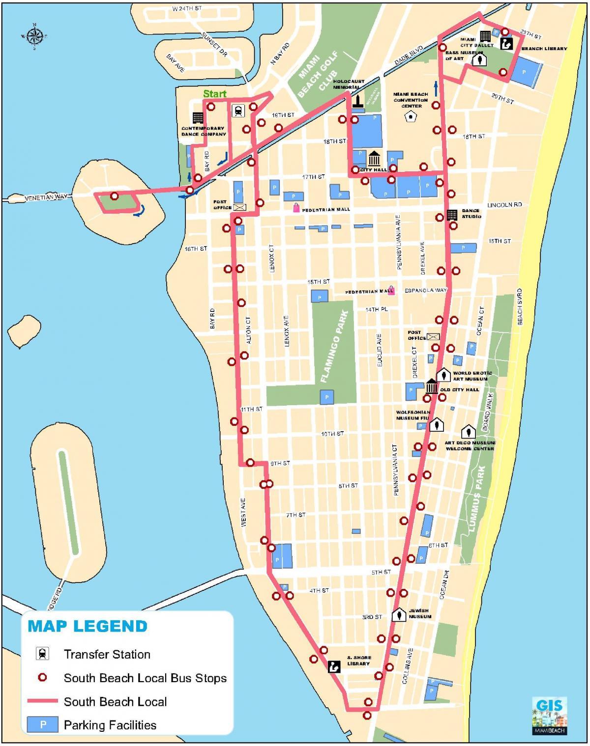 miami térkép South beach Miami mapa   Mapa south Miami beach (Florida   AEB) miami térkép